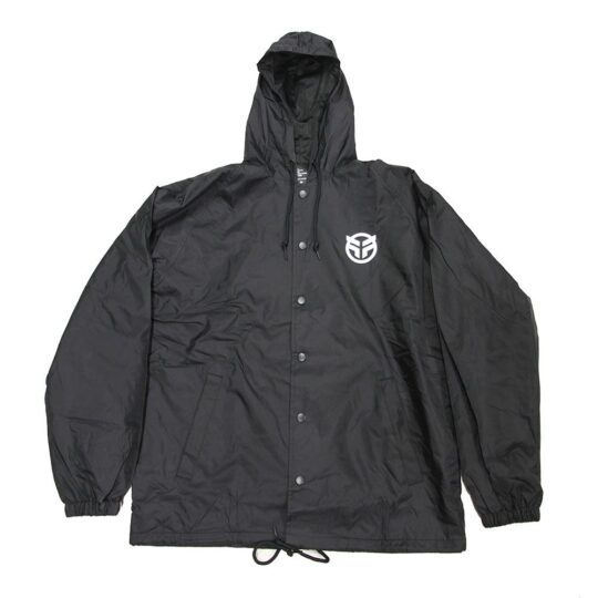 federal logo jacket black front