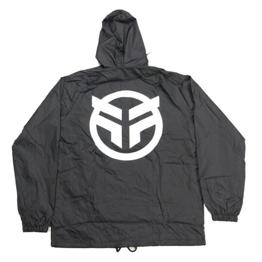 federal logo jacket black retro