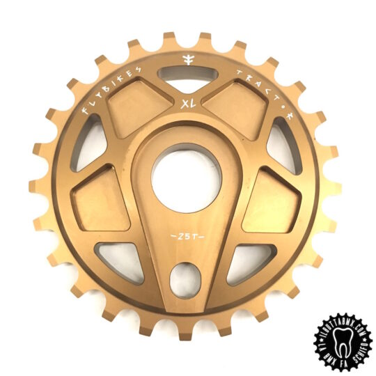 corona bici bmx flybikes tractor XL sprocket chain gold