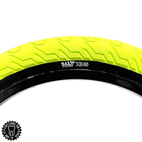 ruote bici bmx tyre rant squad gialle