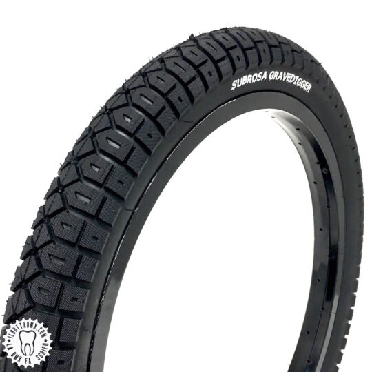 ruote bici bmx tyre subrosa grave digger nere